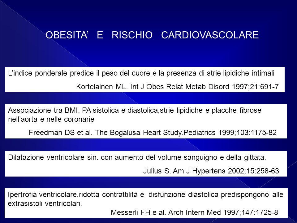 OBESITA' E RISCHIO CARDIOVASCOLARE