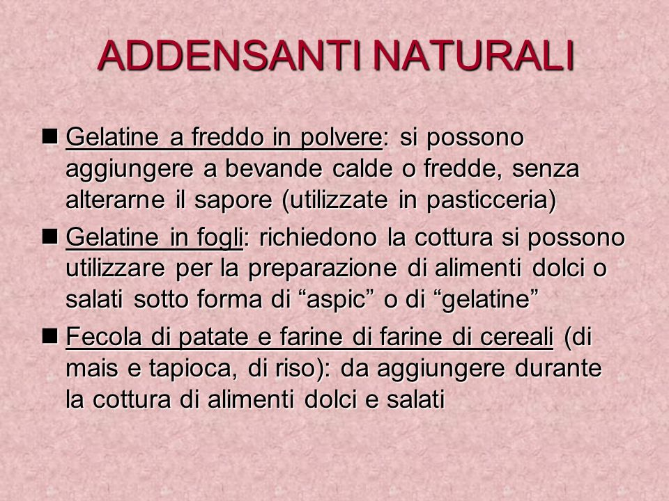ADDENSANTI NATURALI
