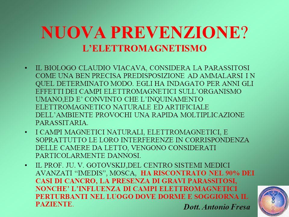 NUOVA PREVENZIONE L'ELETTROMAGNETISMO