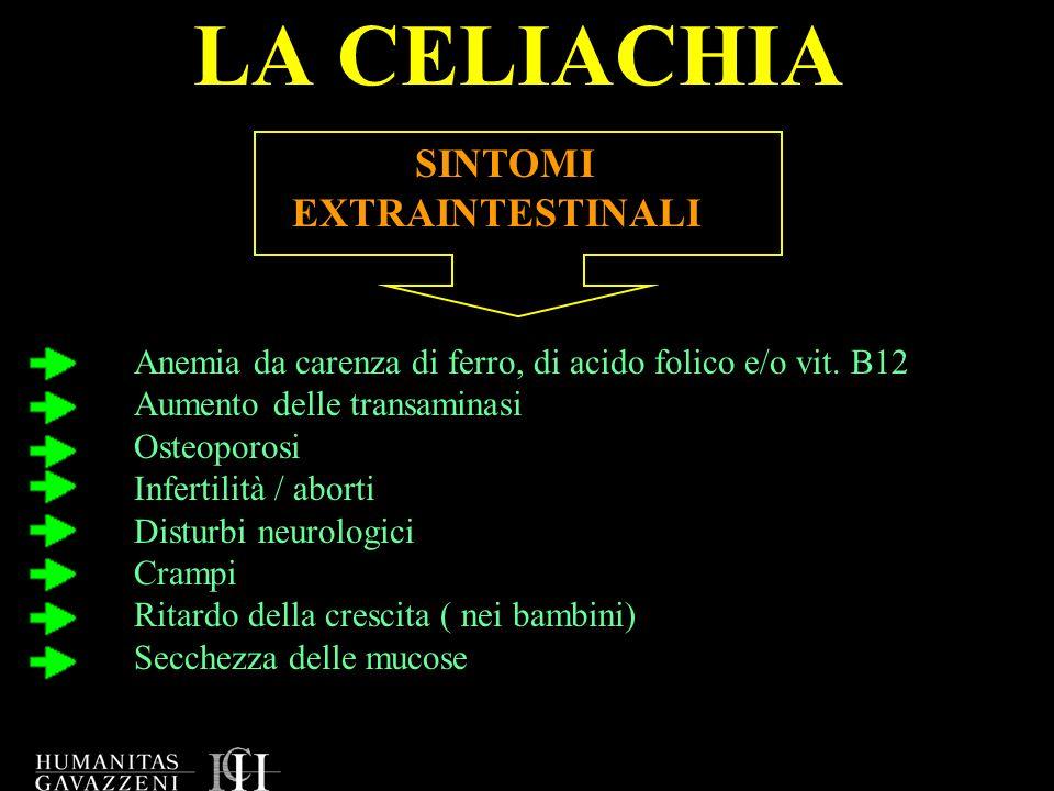 LA CELIACHIA SINTOMI EXTRAINTESTINALI