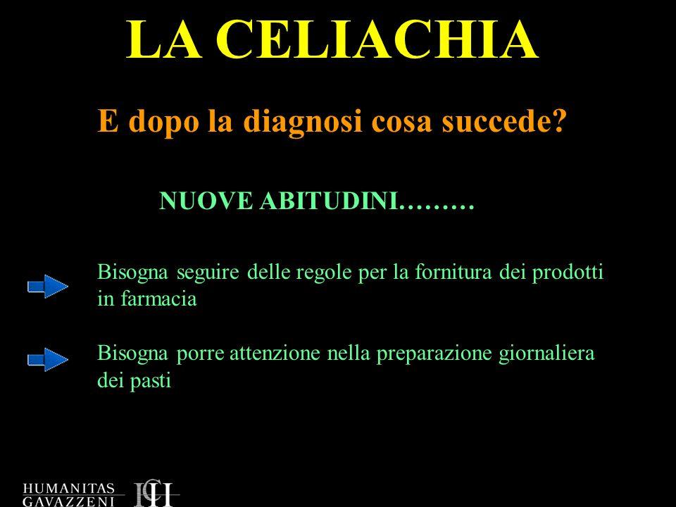 LA CELIACHIA E dopo la diagnosi cosa succede NUOVE ABITUDINI………