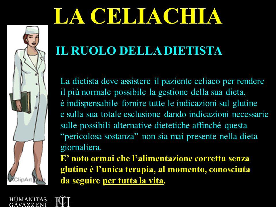 LA CELIACHIA IL RUOLO DELLA DIETISTA