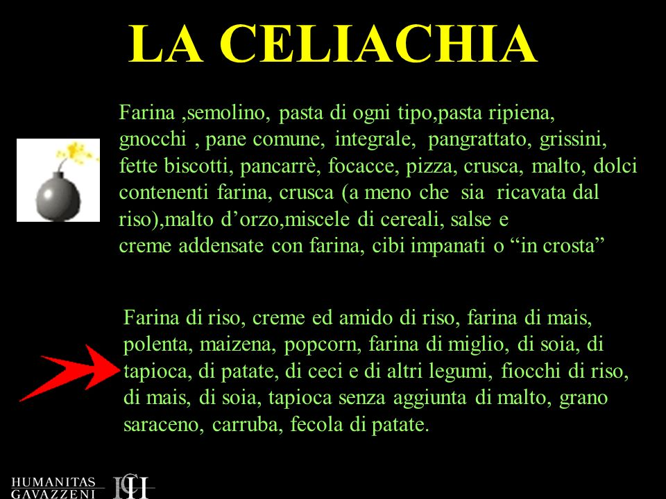 LA CELIACHIA Farina ,semolino, pasta di ogni tipo,pasta ripiena,