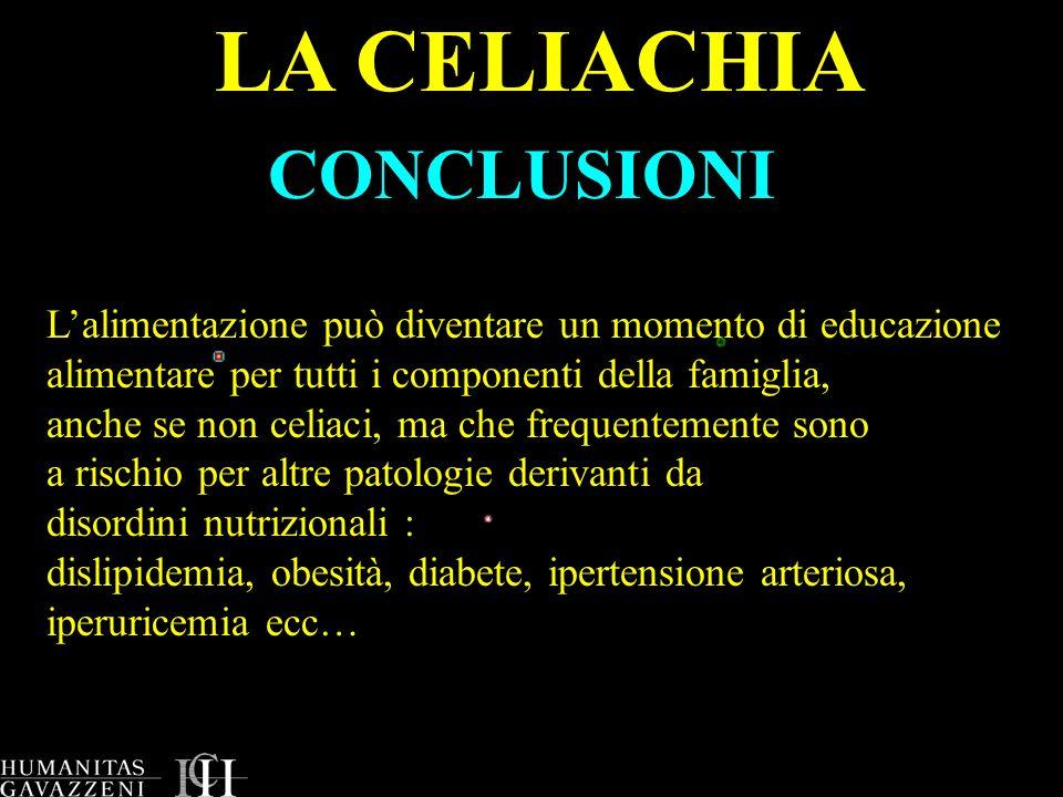 LA CELIACHIA CONCLUSIONI