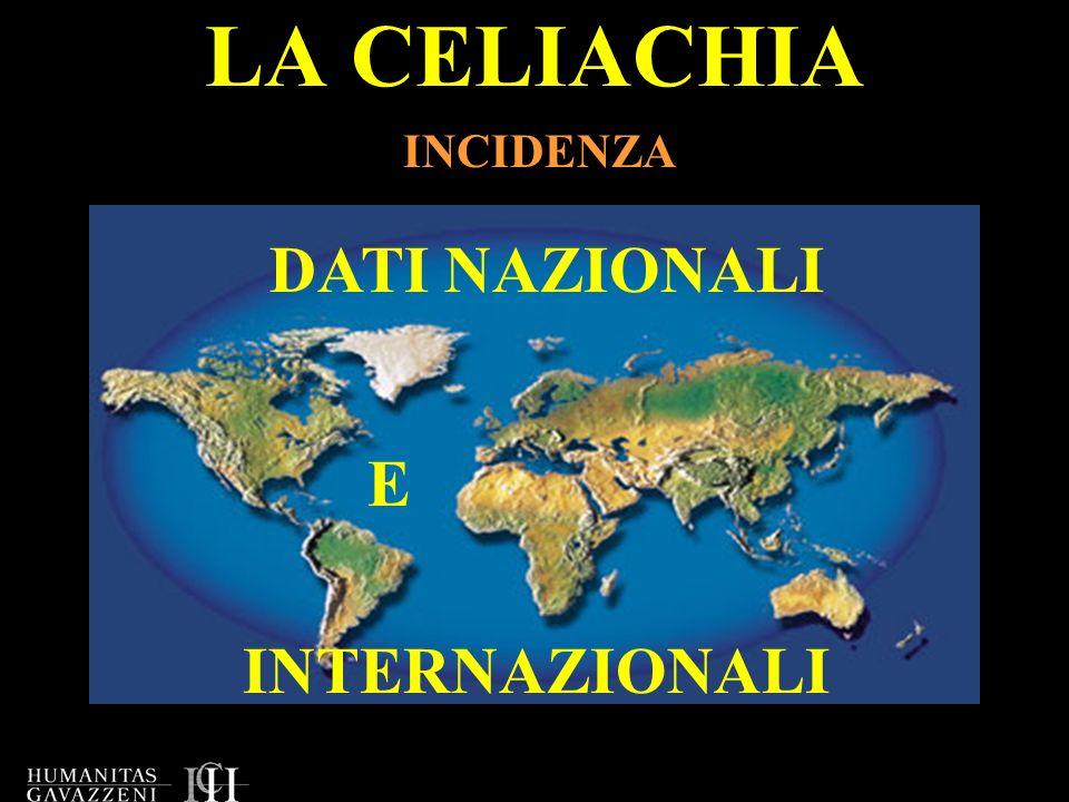 LA CELIACHIA INCIDENZA DATI NAZIONALI E INTERNAZIONALI