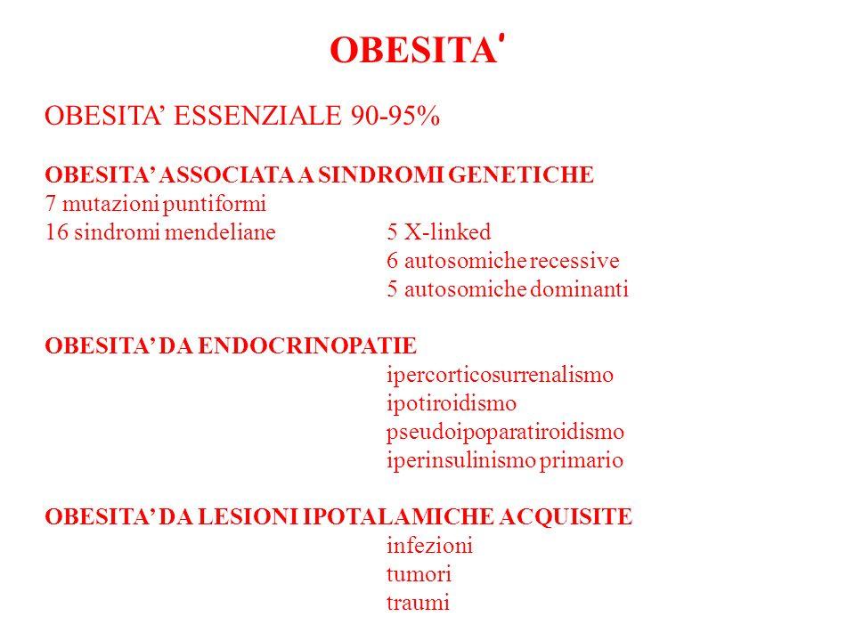 OBESITA' OBESITA' ESSENZIALE 90-95%