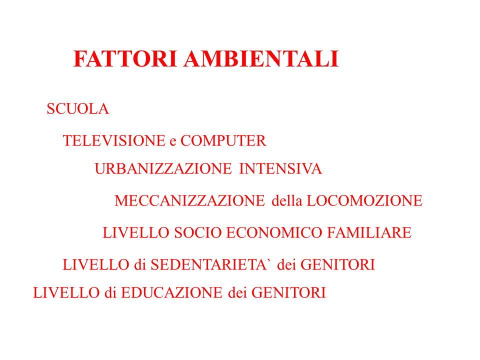 FATTORI AMBIENTALI SCUOLA TELEVISIONE e COMPUTER