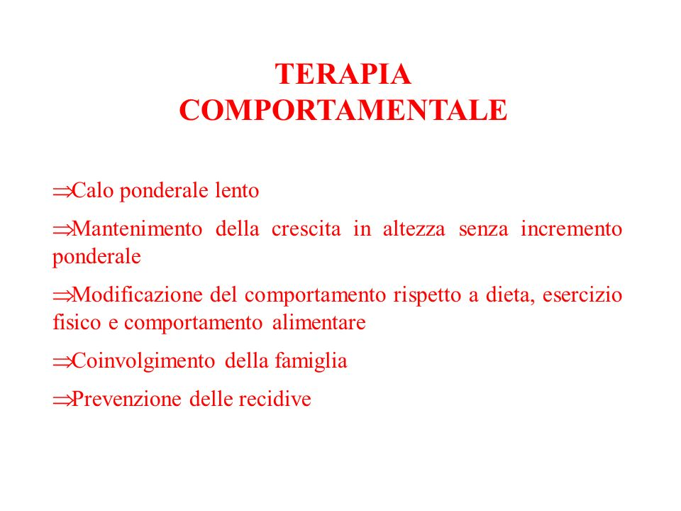TERAPIA COMPORTAMENTALE