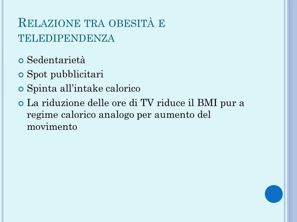 Relazione tra obesità e teledipendenza