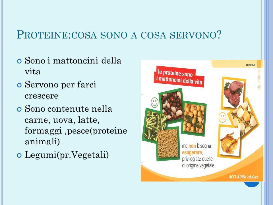 Proteine:cosa sono a cosa servono
