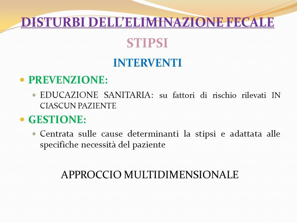 disturbi dell'eliminazione fecale STIPSI interventi