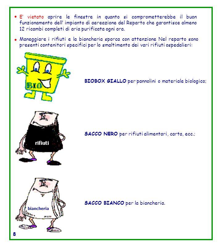 BIOBOX GIALLO per pannolini o materiale biologico;