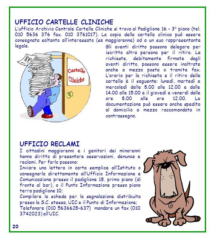 UFFICIO CARTELLE CLINICHE