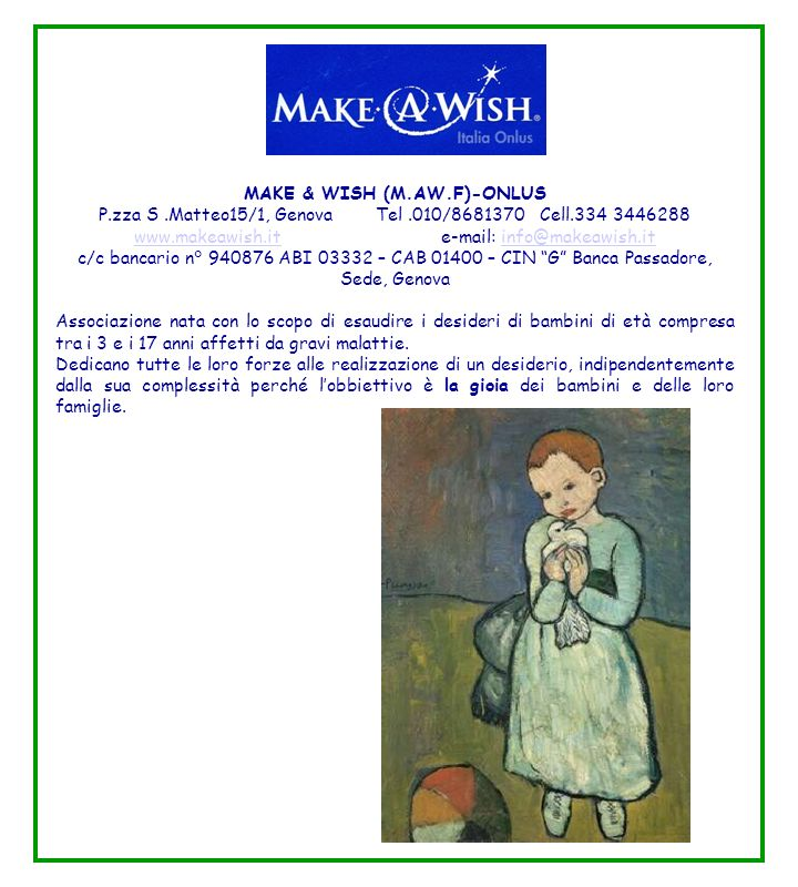 MAKE & WISH (M.AW.F)-ONLUS