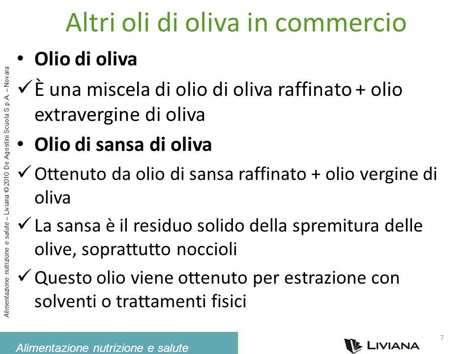 Altri oli di oliva in commercio