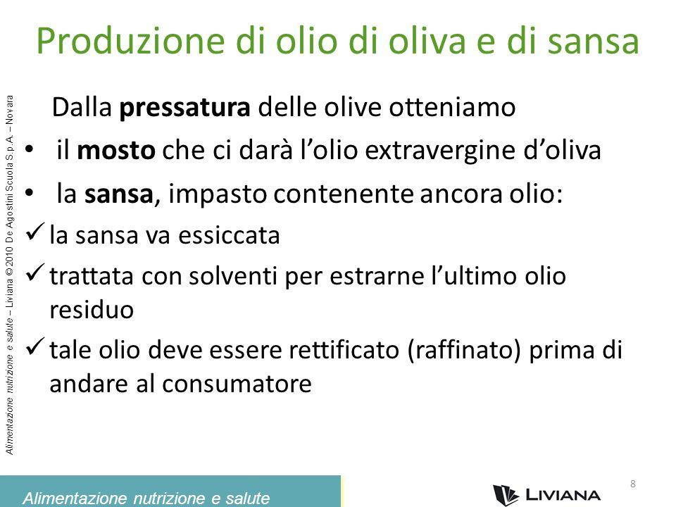 Produzione di olio di oliva e di sansa
