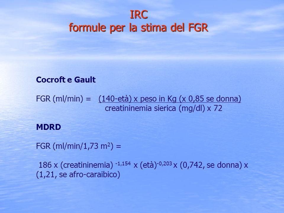 IRC formule per la stima del FGR