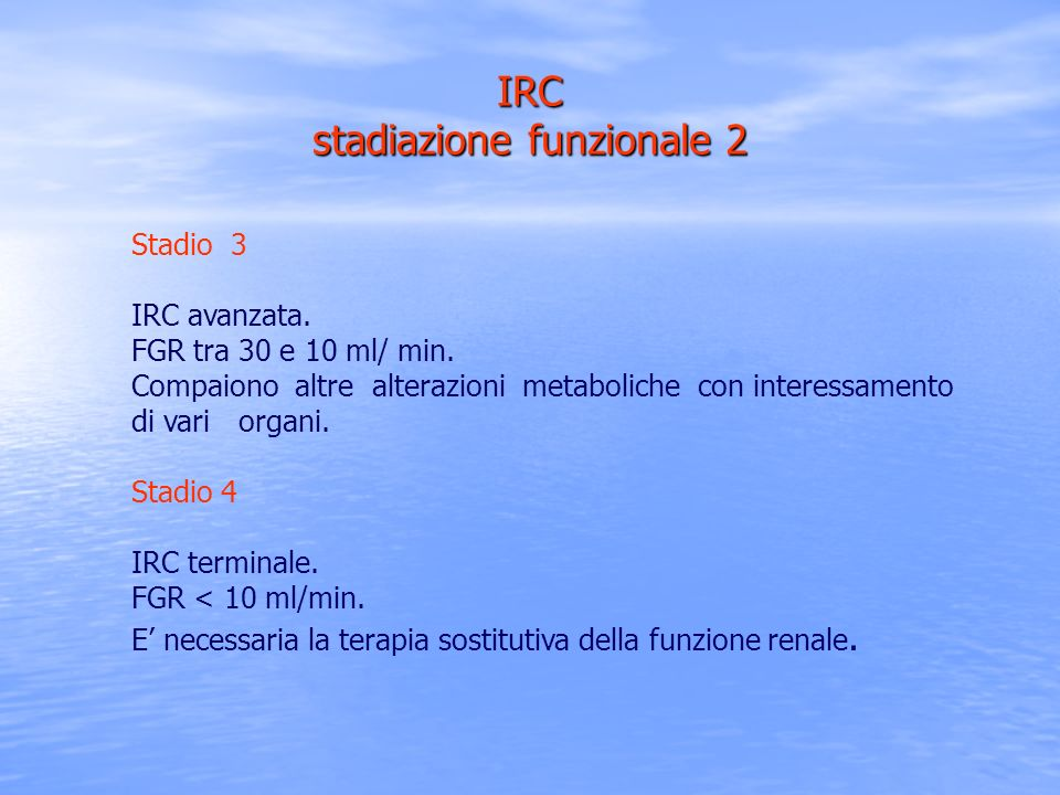 IRC stadiazione funzionale 2