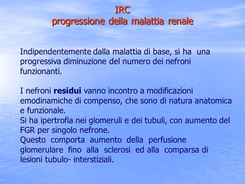 IRC progressione della malattia renale