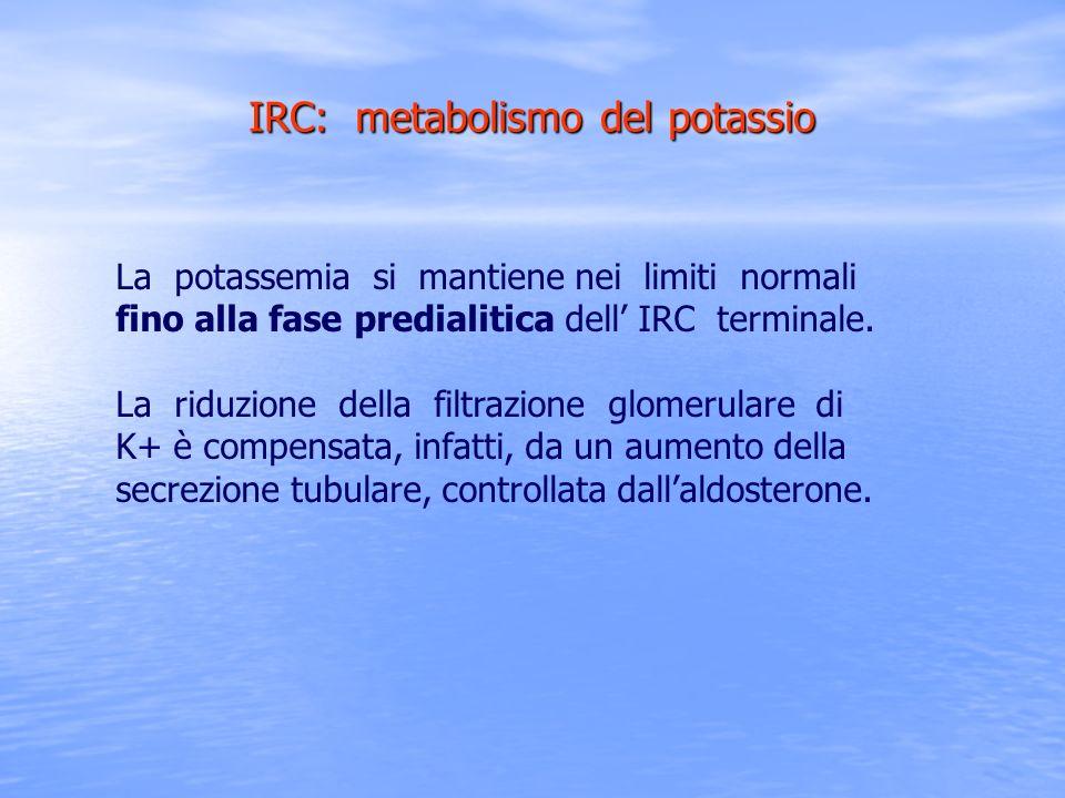 IRC: metabolismo del potassio