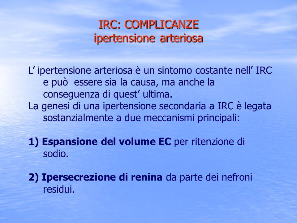 IRC: COMPLICANZE ipertensione arteriosa