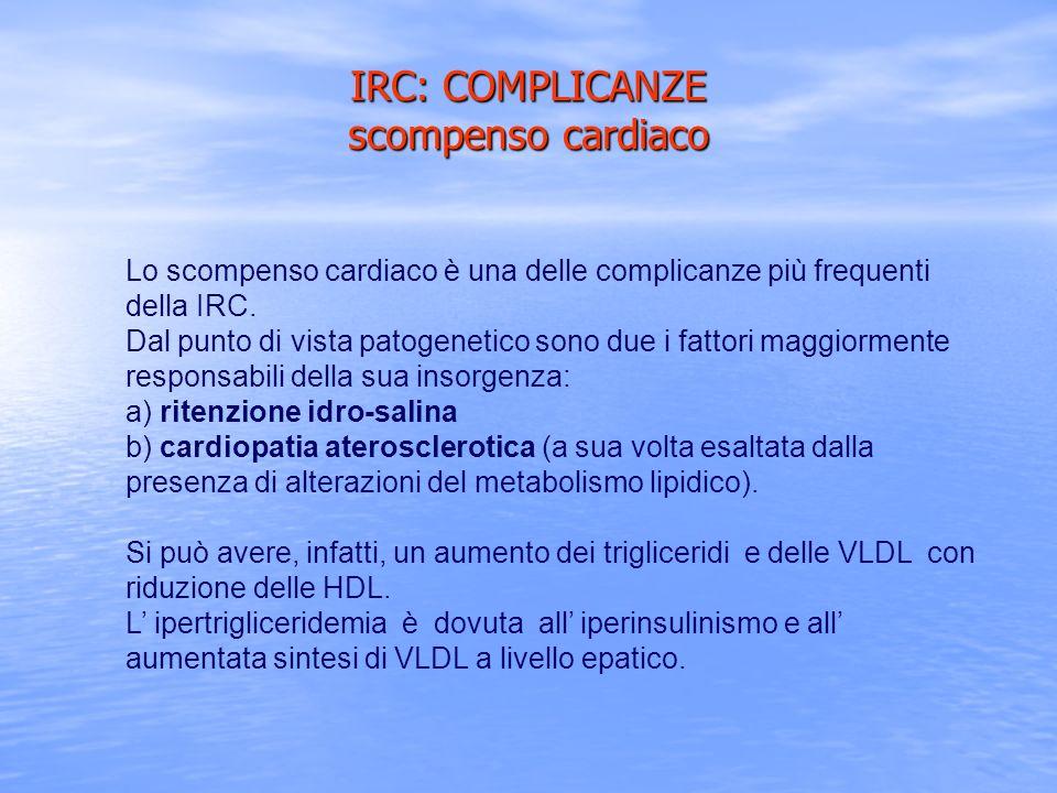 IRC: COMPLICANZE scompenso cardiaco