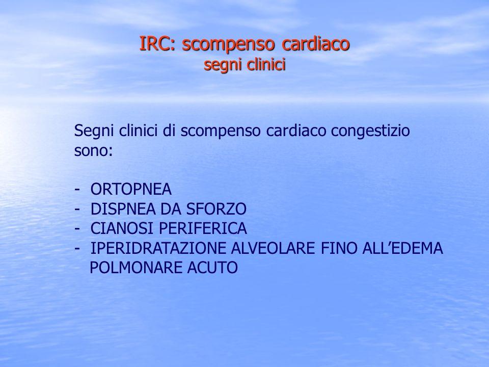 IRC: scompenso cardiaco segni clinici