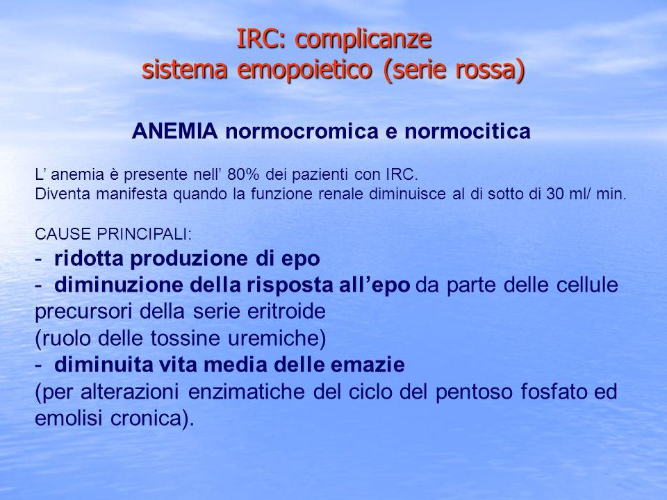 IRC: complicanze sistema emopoietico (serie rossa)
