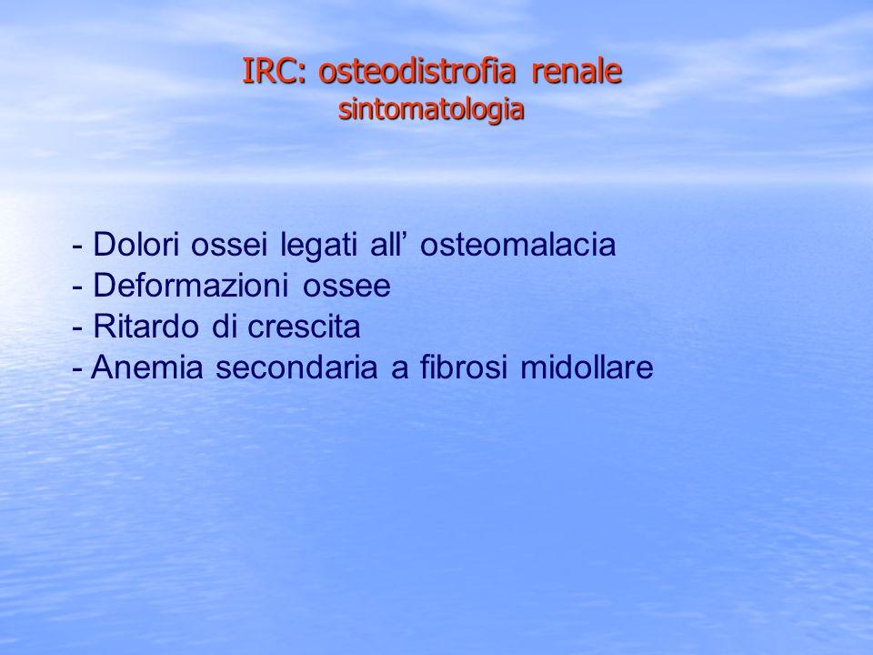 IRC: osteodistrofia renale sintomatologia