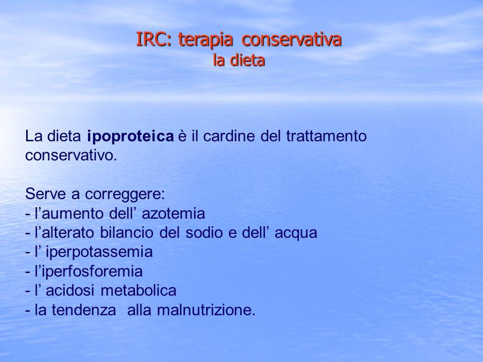 IRC: terapia conservativa la dieta