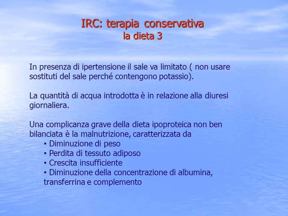 IRC: terapia conservativa la dieta 3