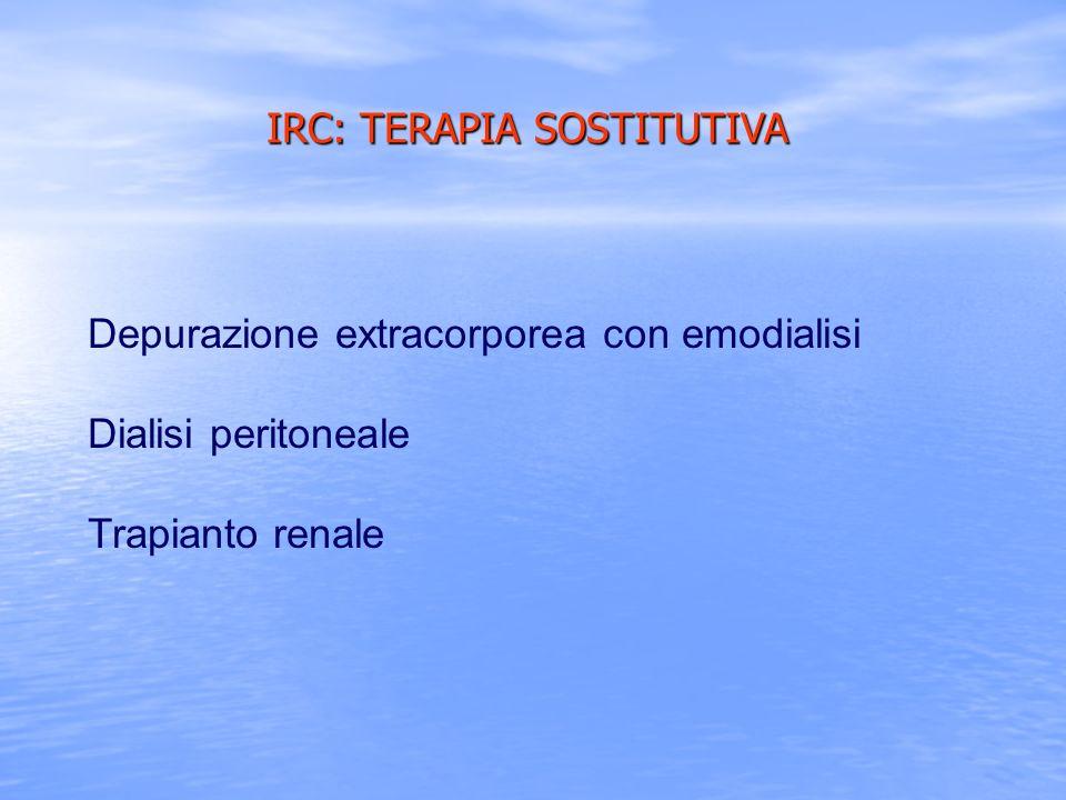 IRC: TERAPIA SOSTITUTIVA