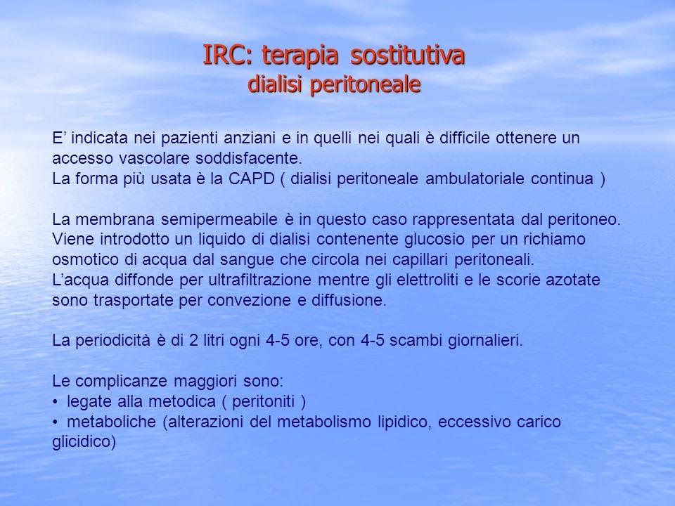 IRC: terapia sostitutiva dialisi peritoneale