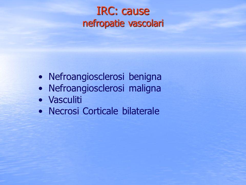 IRC: cause nefropatie vascolari