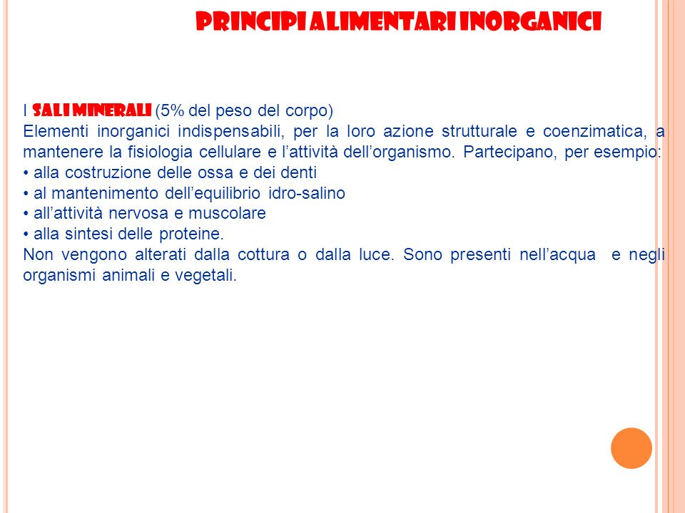 Principi alimentari inorganici