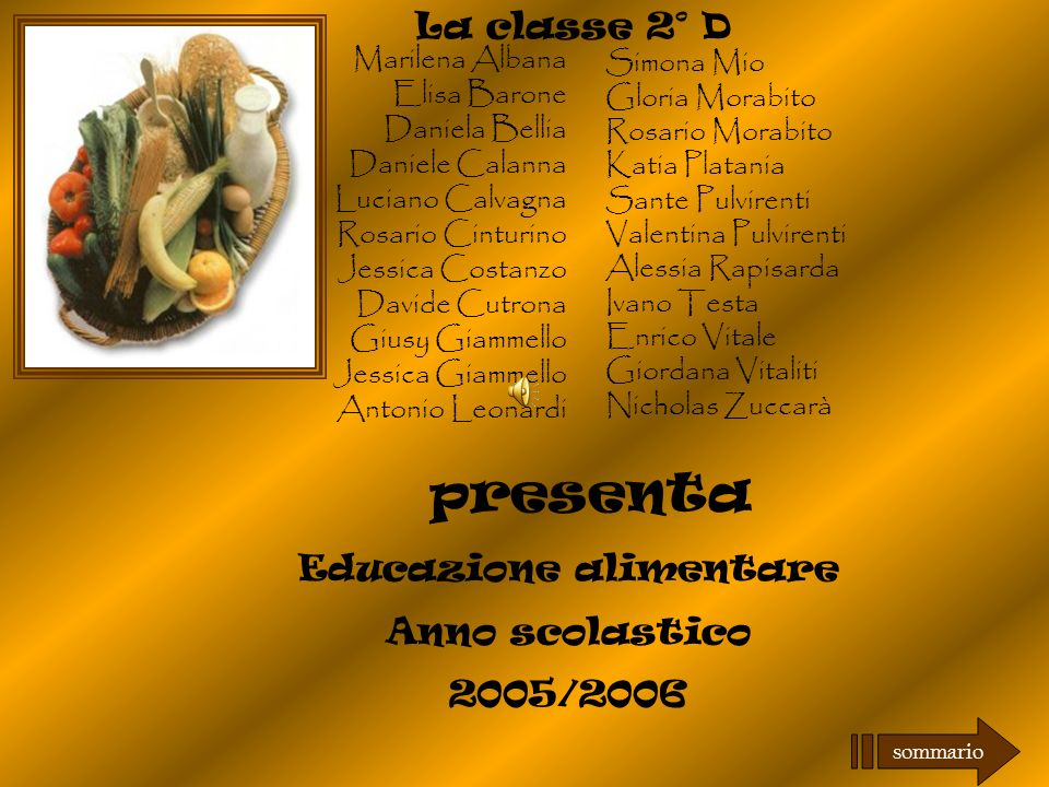 Educazione alimentare ppt scaricare for Daniela costanzo