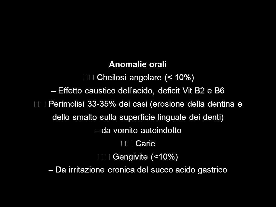  Cheilosi angolare (< 10%)