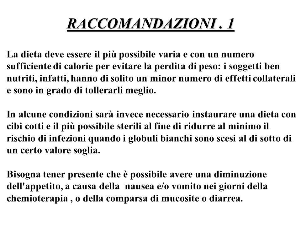 RACCOMANDAZIONI . 1