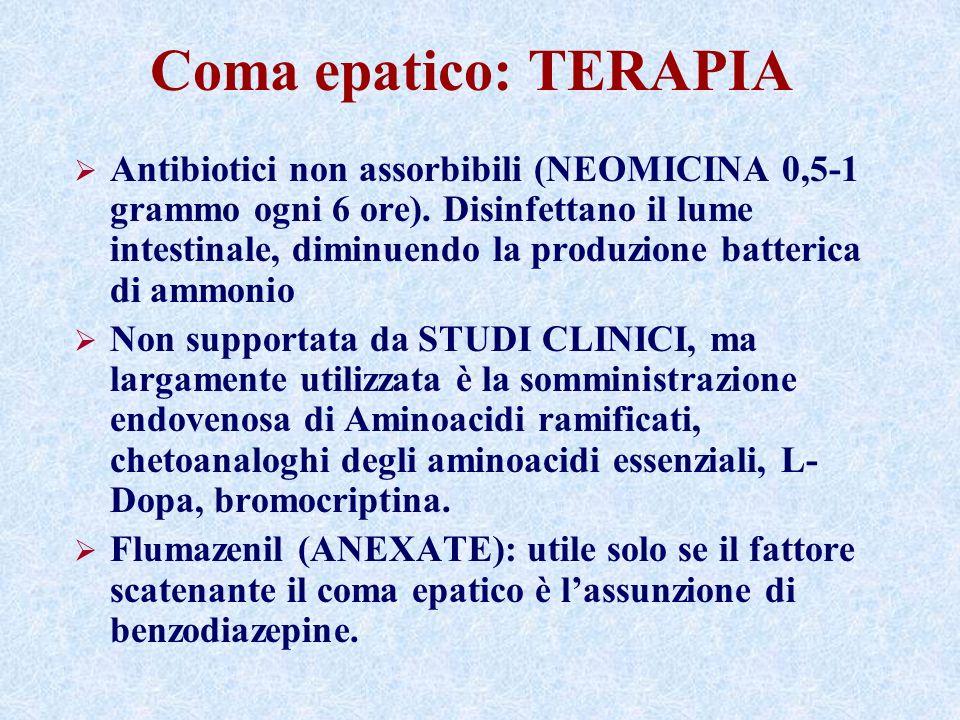 Coma epatico: TERAPIA