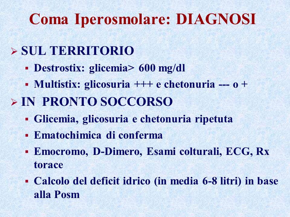Coma Iperosmolare: DIAGNOSI