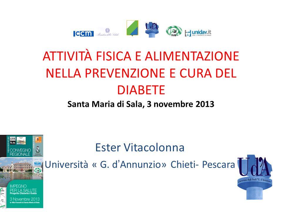 Ester Vitacolonna Università « G. d'Annunzio» Chieti- Pescara