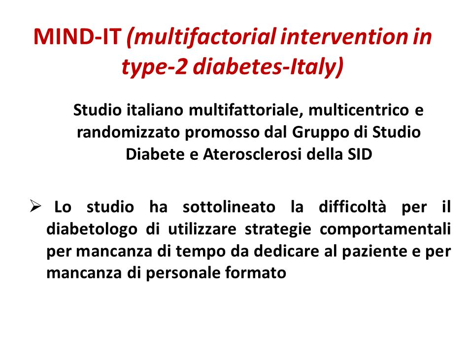 MIND-IT (multifactorial intervention in type-2 diabetes-Italy)