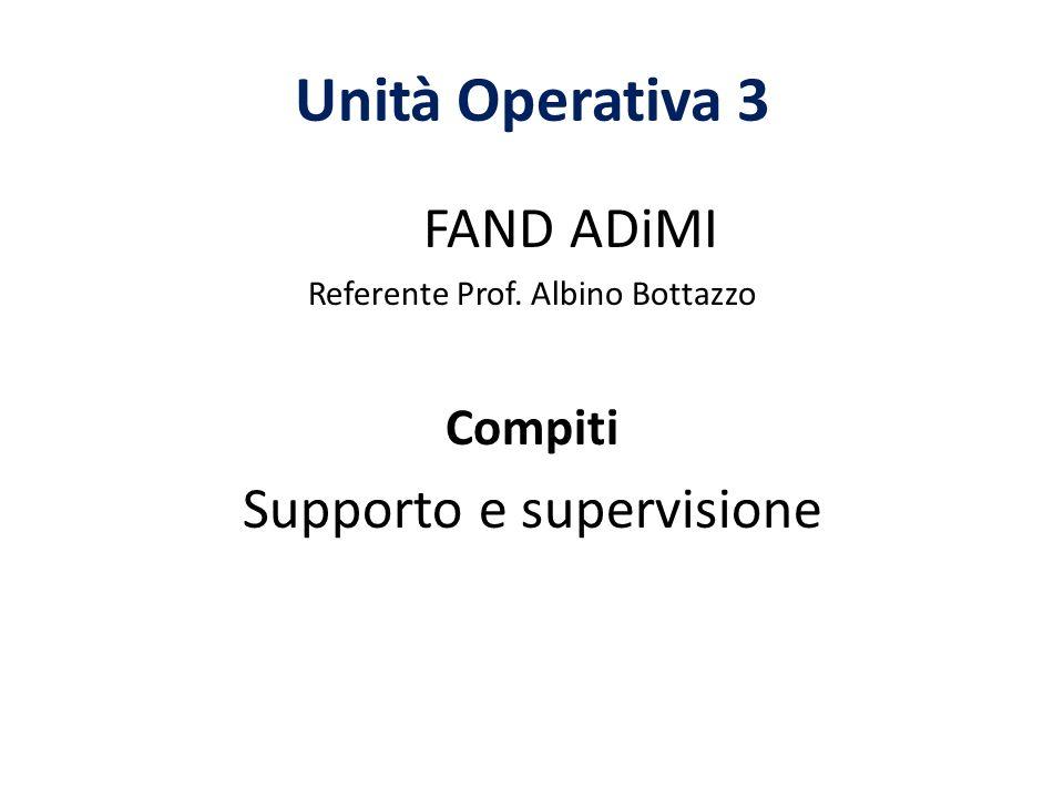 Unità Operativa 3 FAND ADiMI Supporto e supervisione Compiti