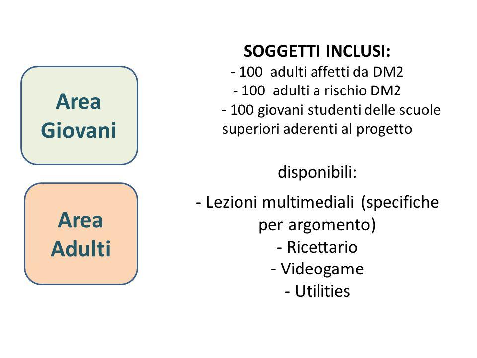 Area Giovani Area Adulti