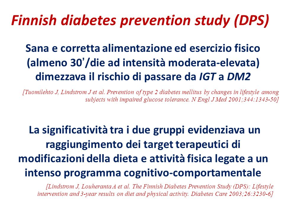 Finnish diabetes prevention study (DPS)