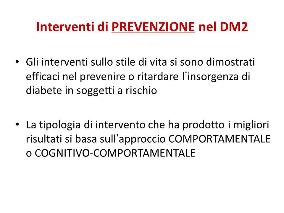 Interventi di PREVENZIONE nel DM2
