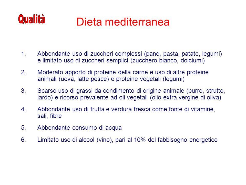 Dieta mediterranea Qualità