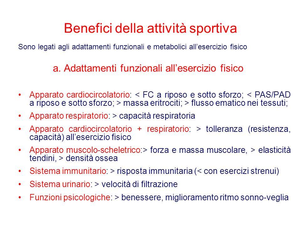 a. Adattamenti funzionali all'esercizio fisico
