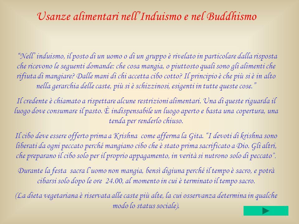Usanze alimentari nell'Induismo e nel Buddhismo