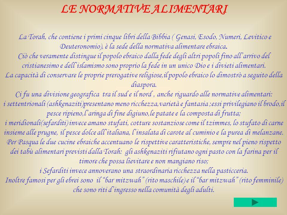 LE NORMATIVE ALIMENTARI